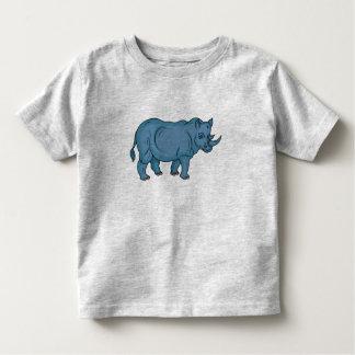 Camiseta Infantil Rinoceronte do vetor