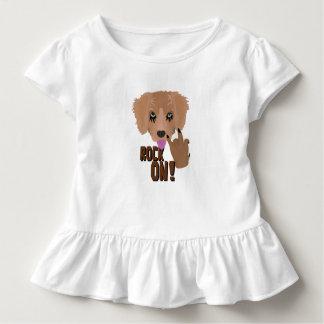 Camiseta Infantil Rocha do filhote de cachorro do metal pesado sobre