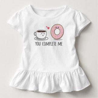 Camiseta Infantil Romântico engraçado você termina-me T do plissado
