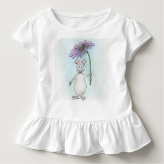 Camiseta Infantil Rosa do rato de Molly e T Ruffled roxo da criança