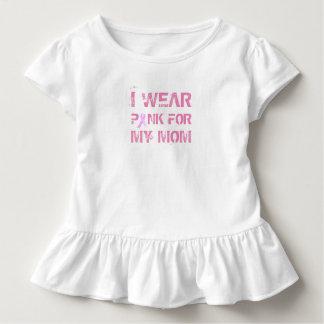 Camiseta Infantil Rosa para meu T do plissado da consciência do