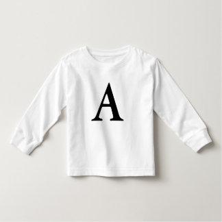 Camiseta Infantil Rotule o tshirt inicial monogrammed de A