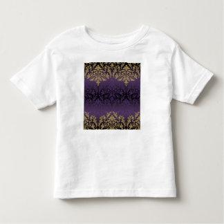 Camiseta Infantil roxo, ultravioleta, damasco, vintage, teste