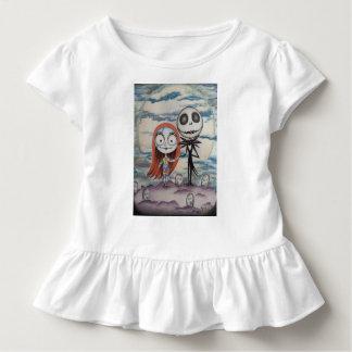 Camiseta Infantil Sally ama Jack: T do plissado da criança!
