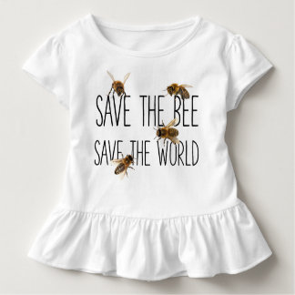 Camiseta Infantil Salvar a abelha! Salvar o mundo! Vive o design