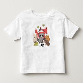 """Camiseta Infantil Sam """"animais em minha jarda """""""