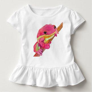 Camiseta Infantil Sapo cor-de-rosa