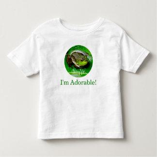 Camiseta Infantil Sapo-Sorriso de sorriso eu sou adorável!