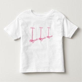 Camiseta Infantil scoot scoot scoot pouco T (cor-de-rosa)