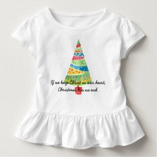 Camiseta Infantil Se nós mantemos o cristo em nosso coração, o Natal