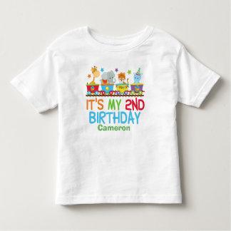 Camiseta Infantil Segundo aniversário feito sob encomenda bonito do