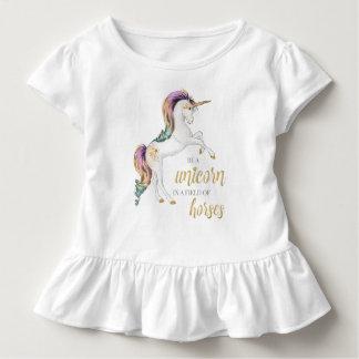 Camiseta Infantil Seja sempre um T do unicórnio