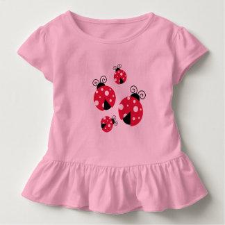 Camiseta Infantil Senhora Desinsetar Plissado T-shirt para o bebê