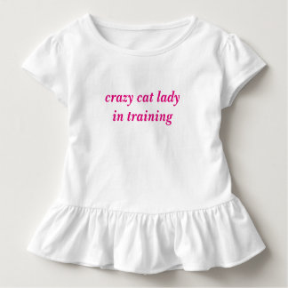 Camiseta Infantil senhora louca de Ccat no tutu do Tshirt das