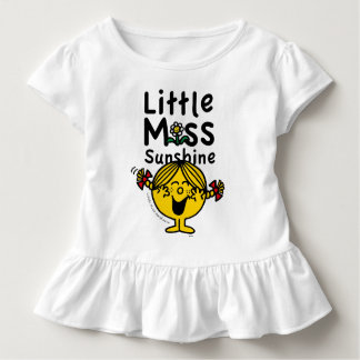 Camiseta Infantil Senhorita pequena pequena Luz do sol Riso da
