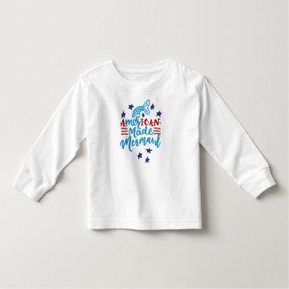 Camiseta Infantil Sereia feita americana. Provérbios bonitos