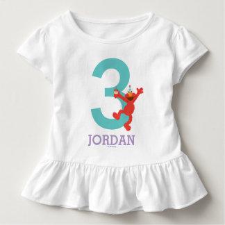 Camiseta Infantil Sesame Street | Elmo - aniversário de 3 anos dos
