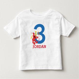 Camiseta Infantil Sesame Street | Elmo - aniversário do arco-íris