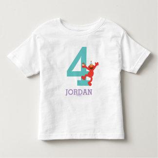 Camiseta Infantil Sesame Street | Elmo - aniversário dos confetes 4o