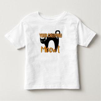 Camiseta Infantil Seu rastejamento Meowt, gato preto o Dia das