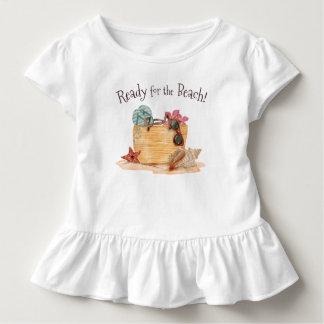 Camiseta Infantil Simples apronte para o T do plissado do verão   da