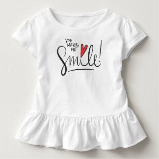 Camiseta Infantil Simples contudo bonito você faz-me sorrir T do