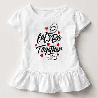 Camiseta Infantil Simples deixe-nos seja junto T do plissado dos
