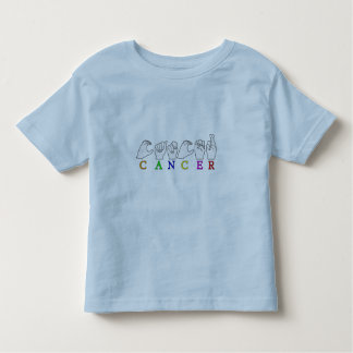 CAMISETA INFANTIL SINAL CONHECIDO DO ZODÍACO DO CANCER FINGERSPELLED