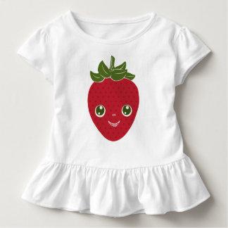 Camiseta Infantil Skullberry, morango doce que tem o trapaceiro ido