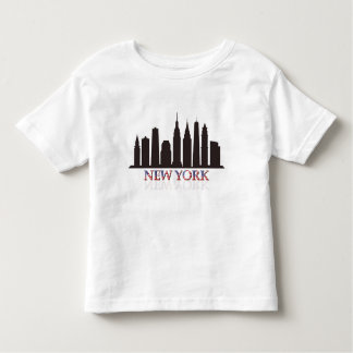 Camiseta Infantil skyline de New York