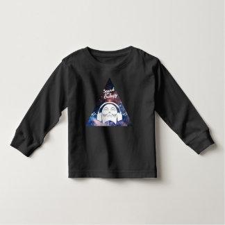 Camiseta Infantil Som da galáxia com o homem no auscultadores
