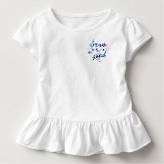 Camiseta Infantil Sonho. Tentativa. Faça bom