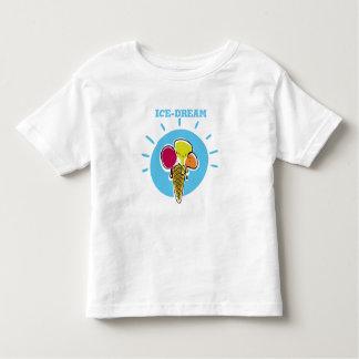Camiseta Infantil sorvete e cartucho engraçados ideais dos desenhos
