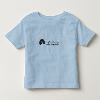 Camiseta Infantil spaniel de rei Charles descuidado