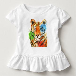 Camiseta Infantil Splatter do tigre