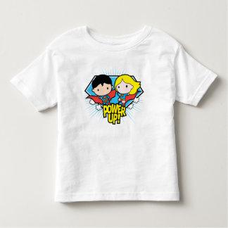 Camiseta Infantil Superman de Chibi & poder de Chibi Supergirl