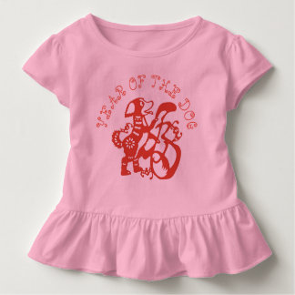 Camiseta Infantil T 2018 chinês do bebé do ano novo de Papercut do