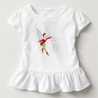 Camiseta Infantil T alegre feericamente do plissado da criança da
