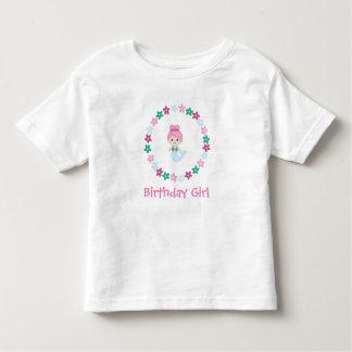 Camiseta Infantil T bonito da sereia da mensagem feita sob encomenda