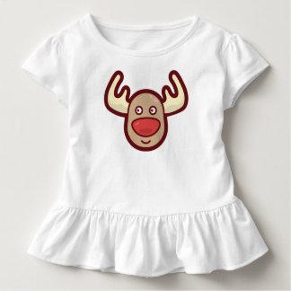 Camiseta Infantil T bonito e simples do plissado da rena | de Rudolf
