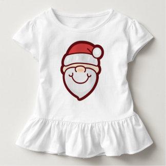 Camiseta Infantil T bonito e simples do plissado de Papai Noel |