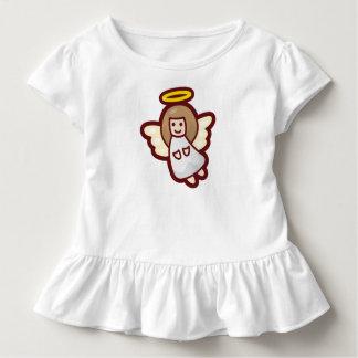 Camiseta Infantil T bonito e simples do plissado do anjo | do Natal