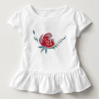 Camiseta Infantil T cor-de-rosa do plissado da criança da arte da