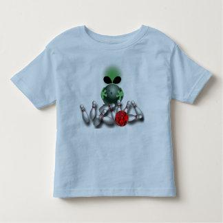 Camiseta Infantil T da alienígena da boliche