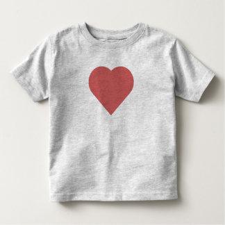 Camiseta Infantil T da criança do coração