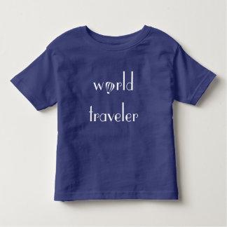 Camiseta Infantil T da criança do logotipo do viajante de mundo