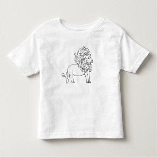 Camiseta Infantil T da criança - leão