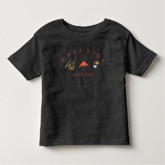 Camiseta Infantil T da lembrança de Toucan do vulcão da preguiça de