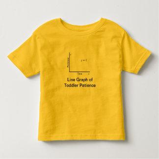 Camiseta Infantil T da paciência da criança