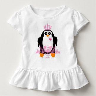 Camiseta Infantil T da princesa Penguinn Criança Menina Plissado